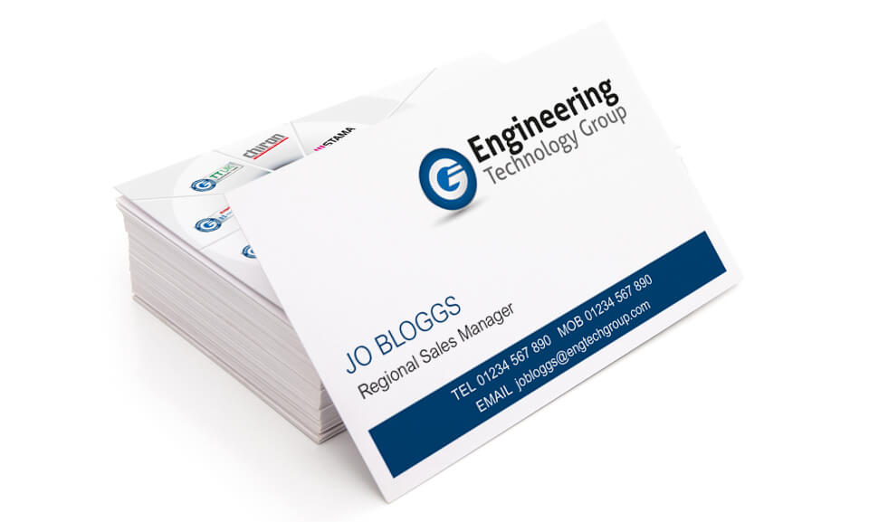 Business Cards for The Engineering technology group