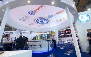 Branding and exhibition stand graphics for The Engineering Technology Group