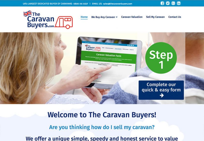 Responsive web design for The Caravan Buyers Website