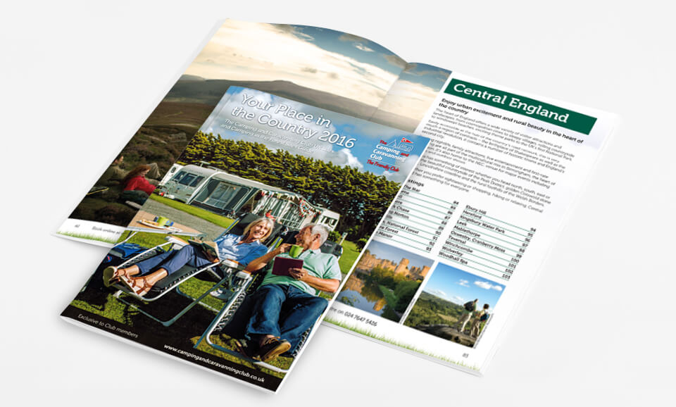 The Camping & Caravanning Club Your Place in the Country Brochure