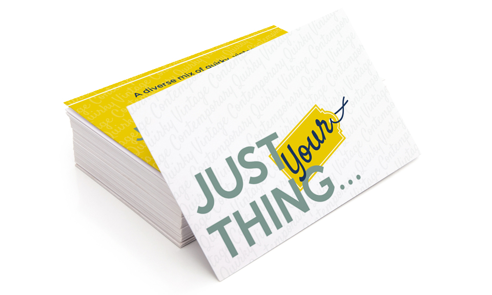 Just Your Thing Business Cards - Core Design Communications Ltd