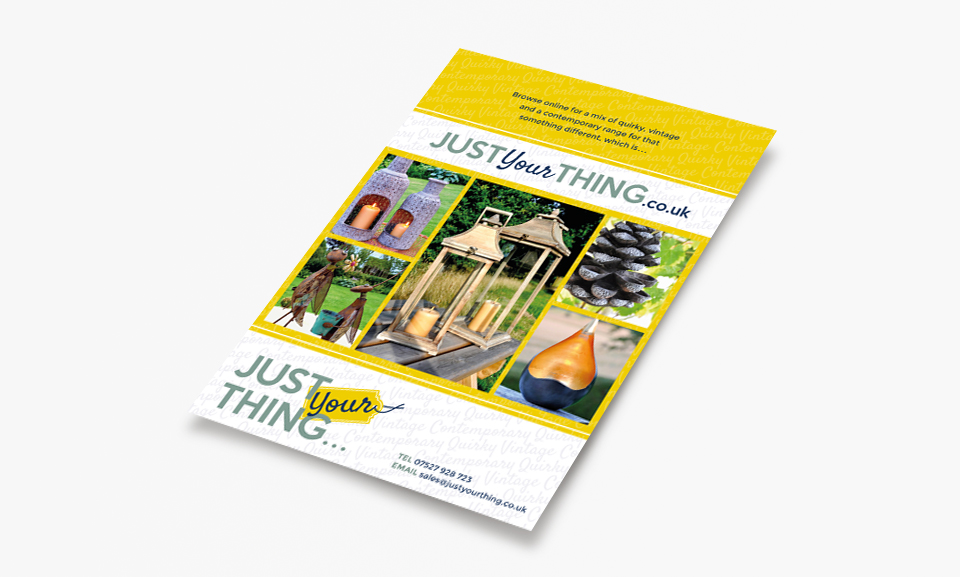 Just Your Thing Flyer