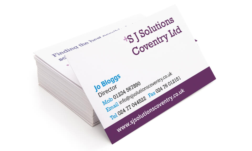 SJ Solutions Business Cards