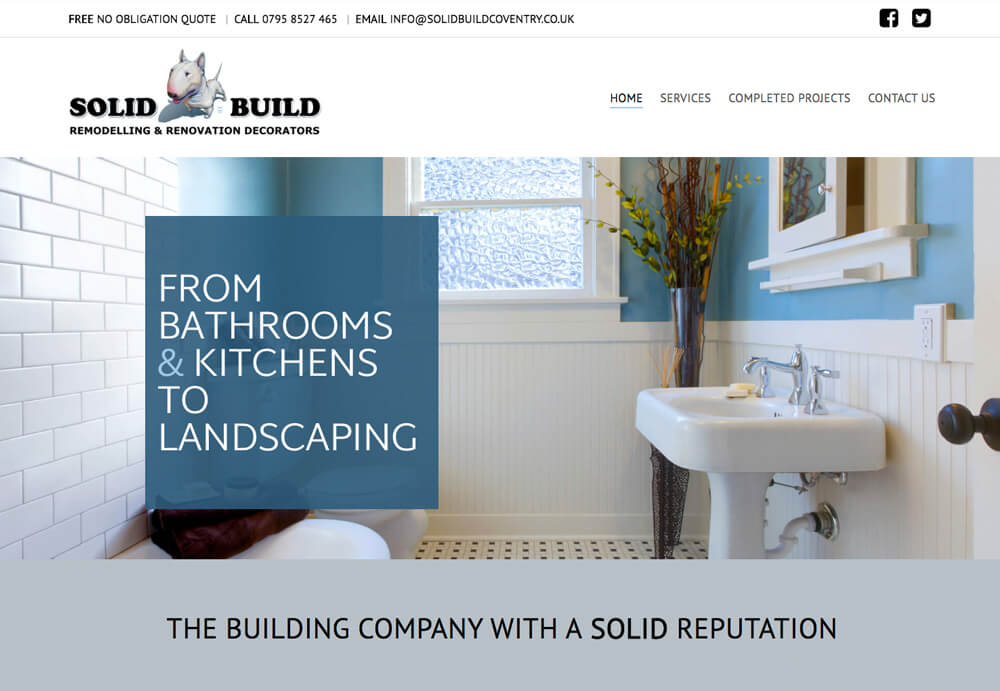 Professional web design and website development for Solid Build Website