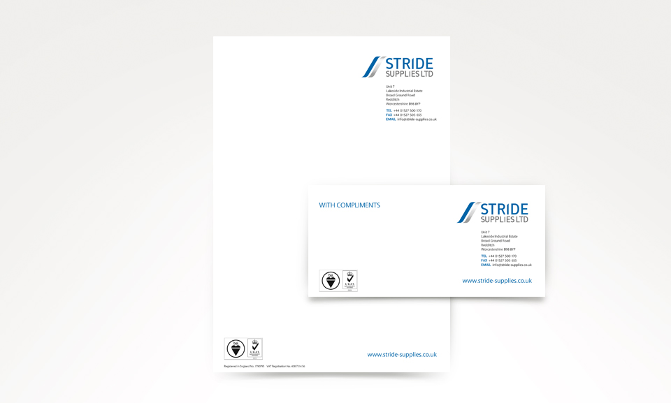 Stride Supplies Letterhead and Compliments Slip