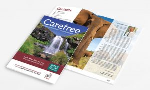 Branding, brochure design for The Camping & Caravanning Club Carefree 2013 South Africa Brochure