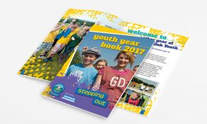 Branding design, Brochure designer for The Camping & Caravanning Club Youth Year Book 2017