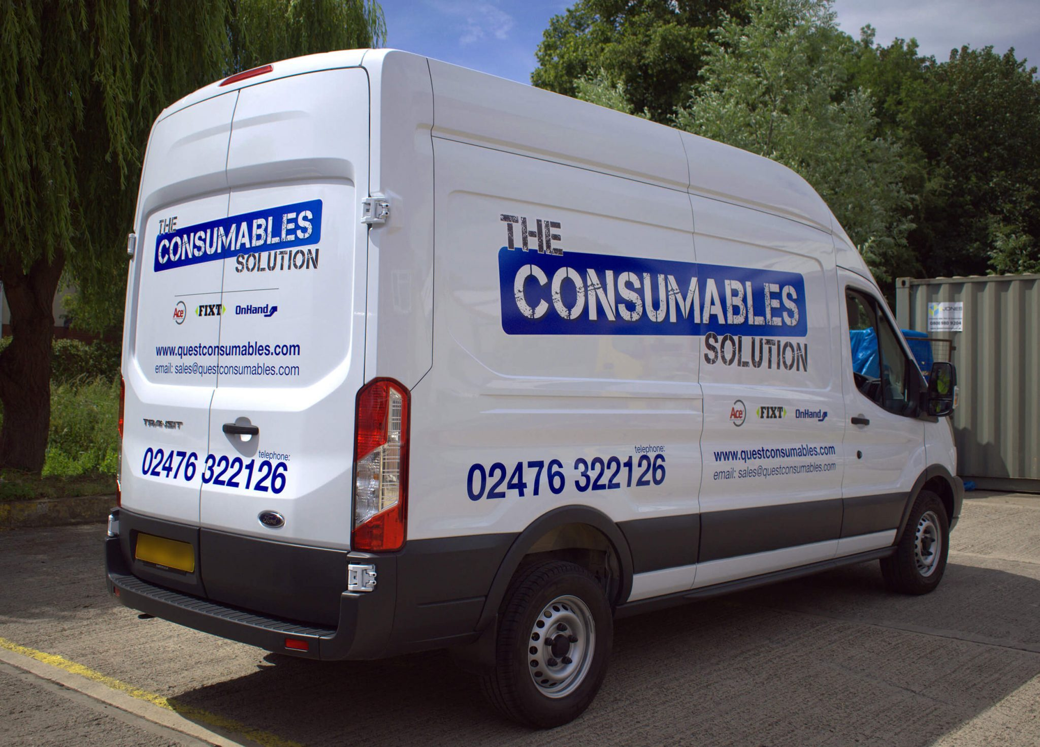 Van graphics, branding, car graphics, vehicle wraps