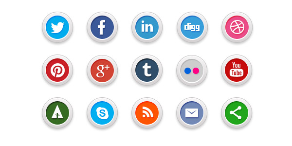 Smart logo designs of social media icons