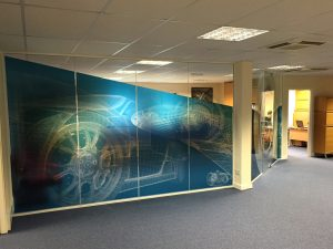 Branding, office partition graphics and glass graphics