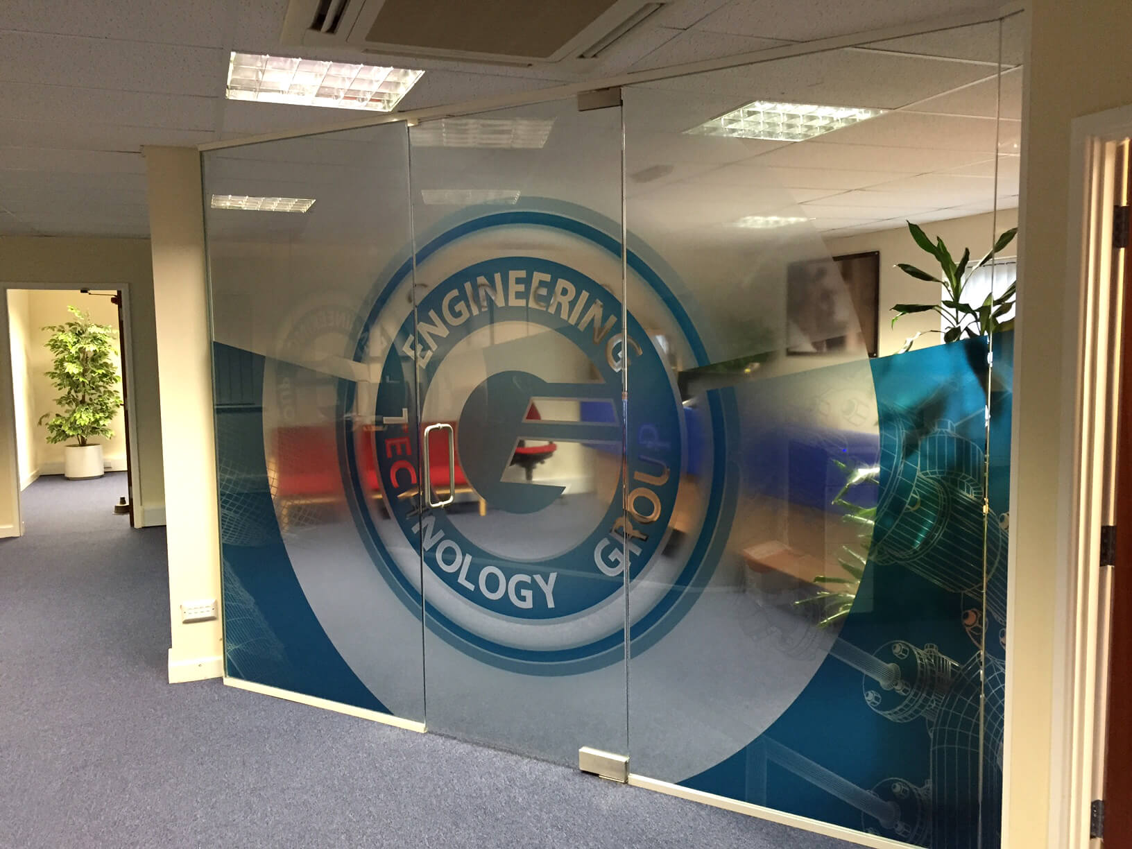 Branding, office partition graphics, window graphics