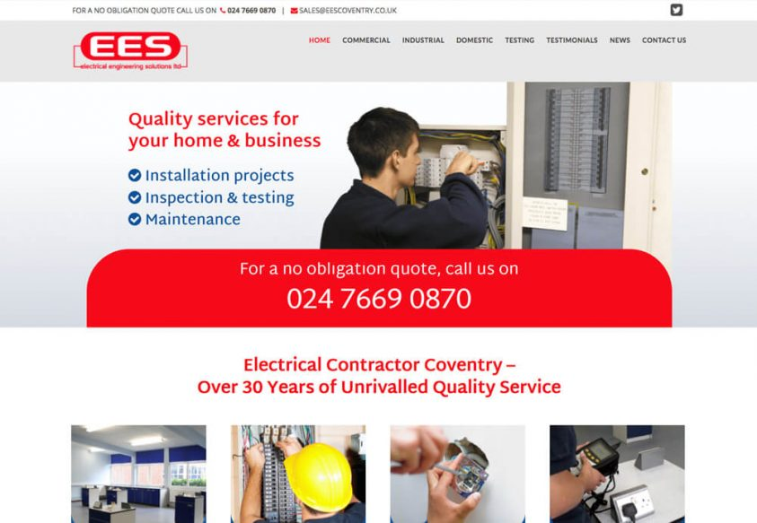 Web design for Electrical Engineering Solutions EES