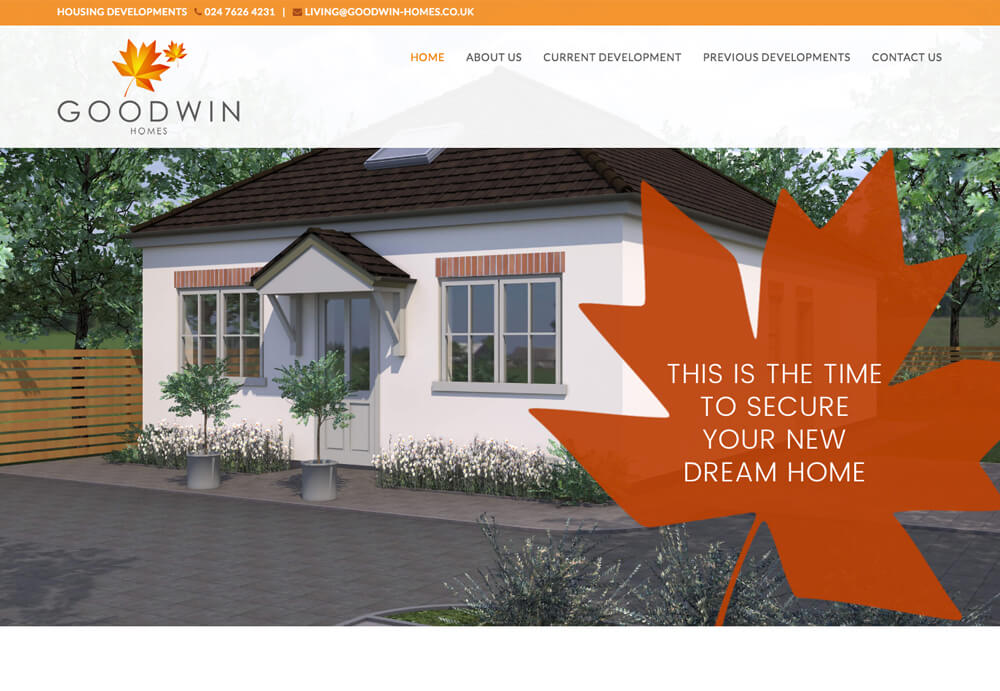 Websites Home page image of Goodwin Homes