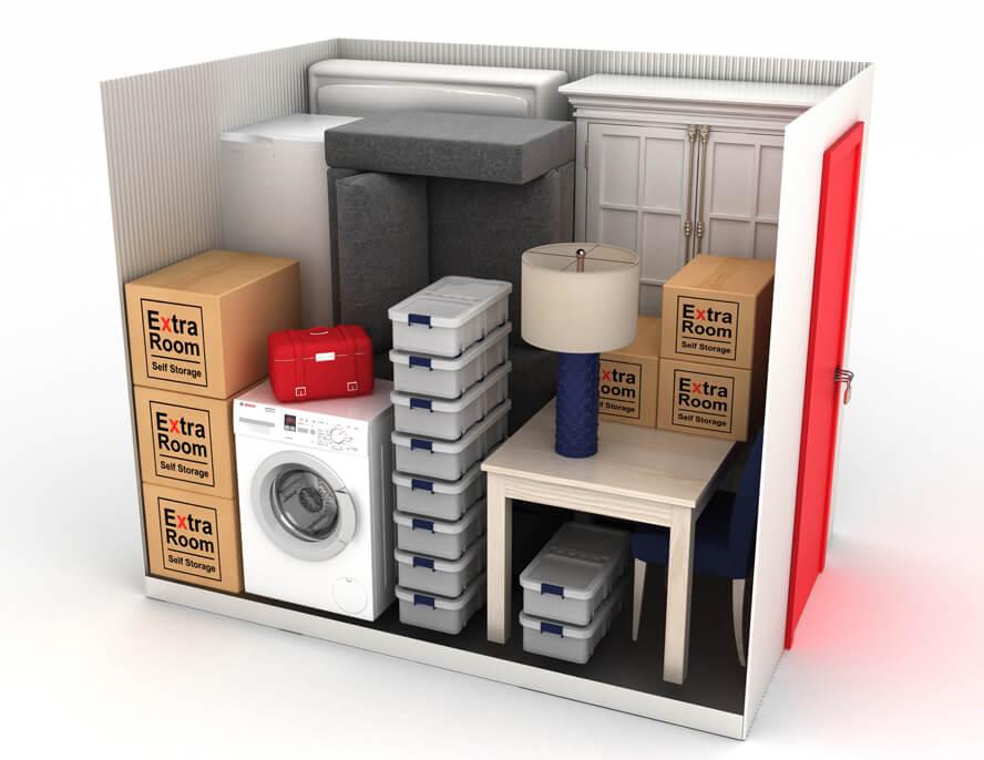 3D render CGI Extra Room Storage Unit 50 sq ft 72dpi