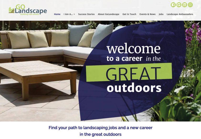 Web Design for Go Landscape Landscaping Jobs