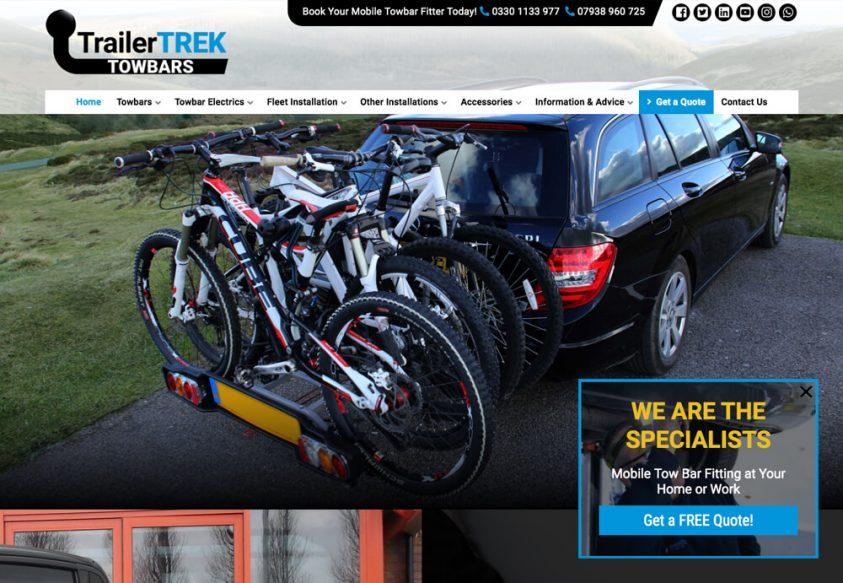 TrailerTREK Website home page