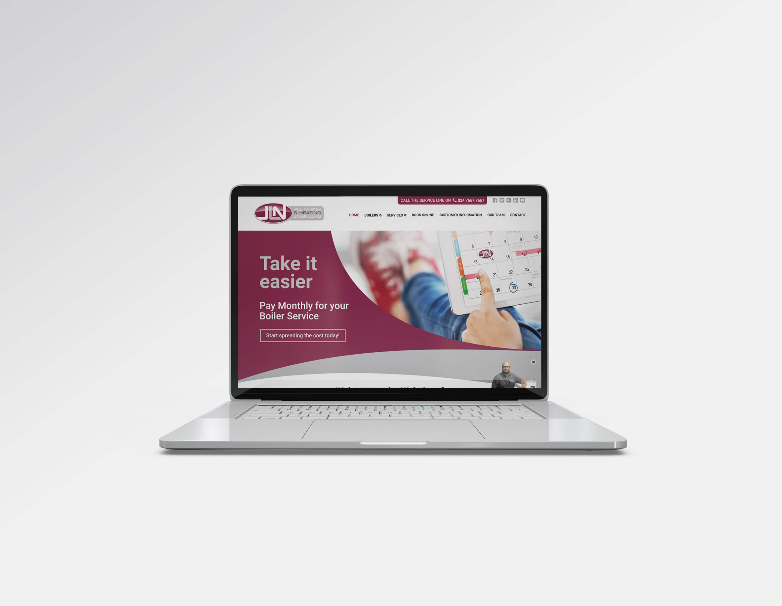 Custom Website Design JLN Plumbing & Heating