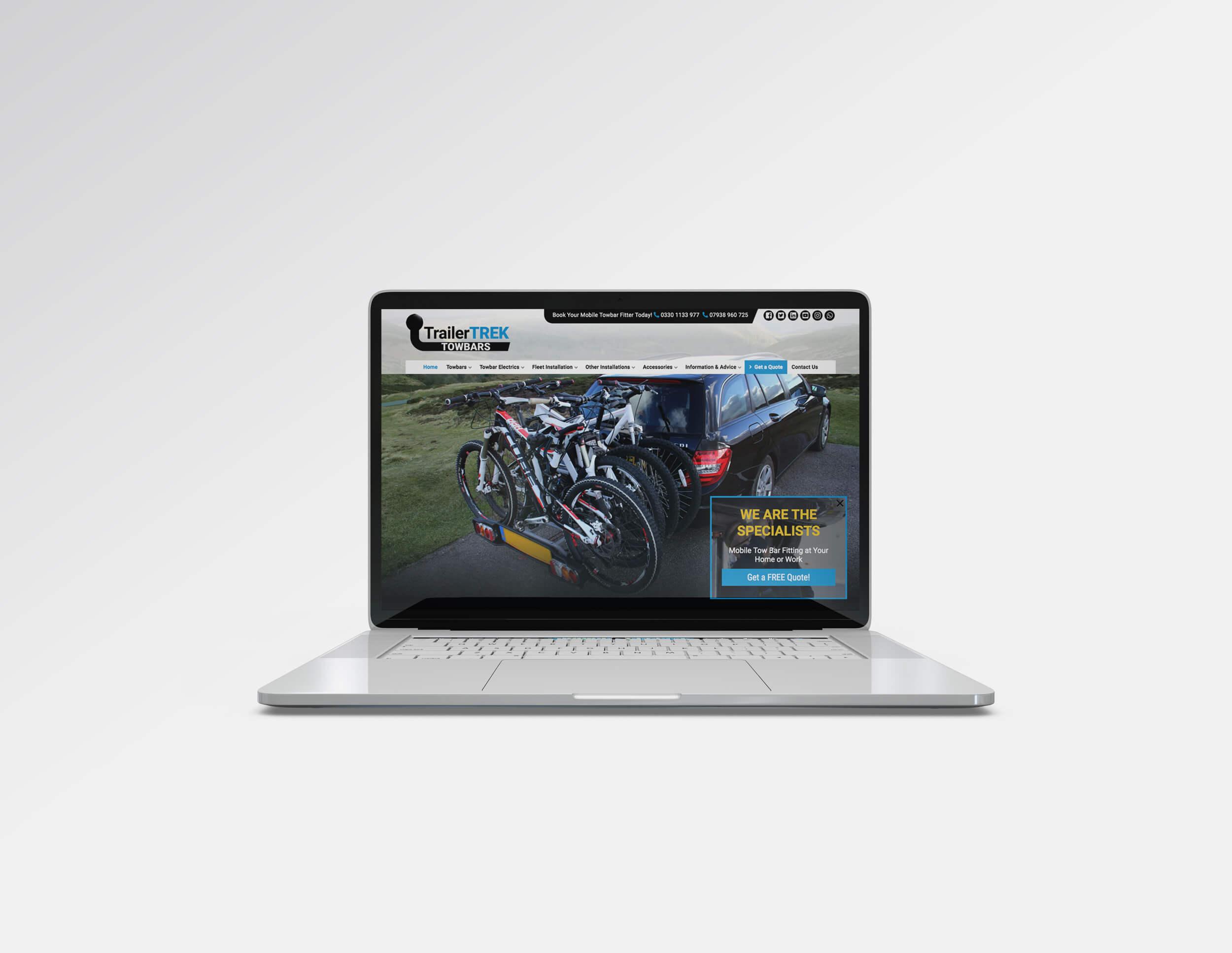 Custom Website Design for TrailerTrek