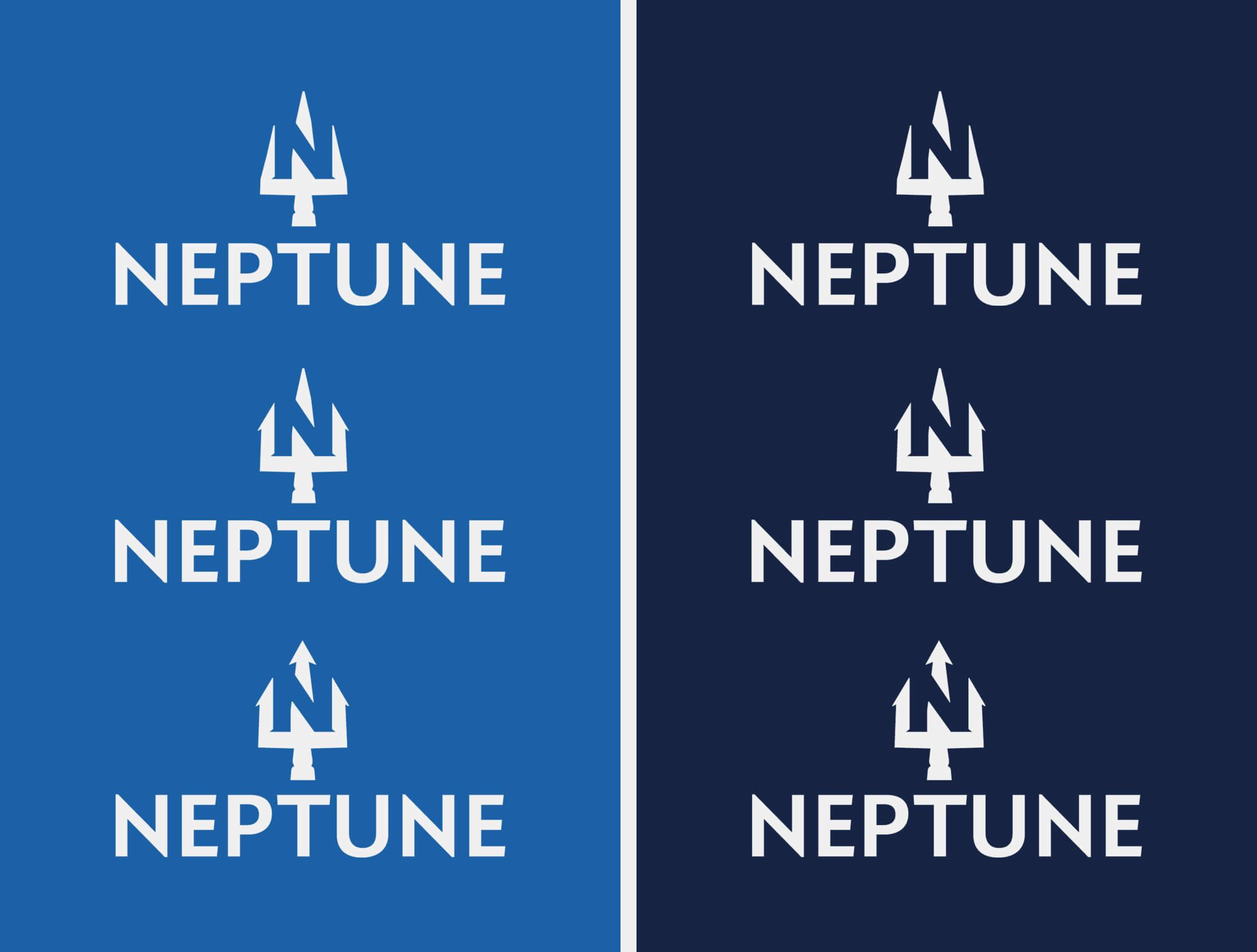 Startup Branding Logo Design progress imges for Neptune