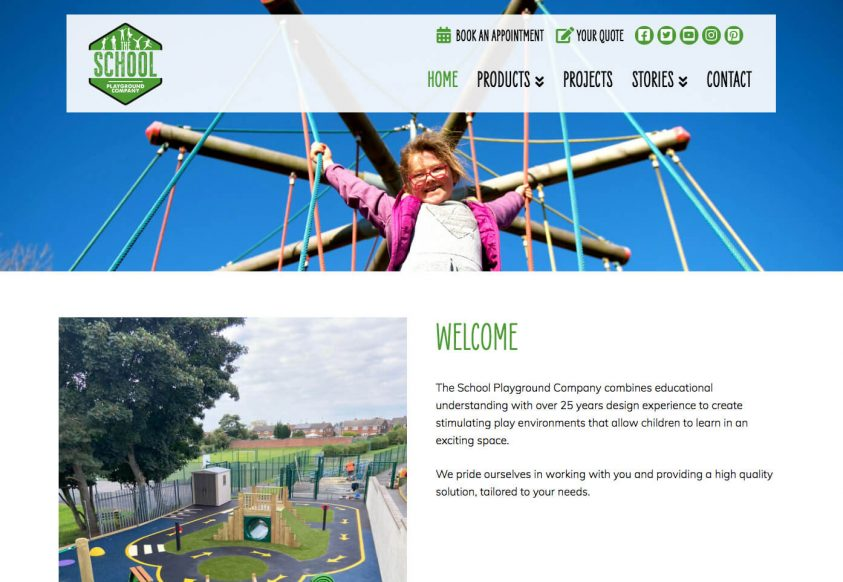 Web Design for The School Playground Company