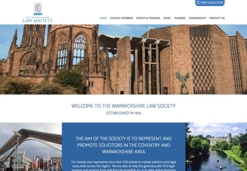 Web Design for The Warwickshire Law Society