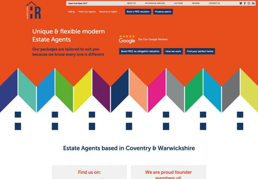 HR Estate Agents Website Design